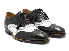 Amatrice Black/White Brogued wingtip oxford