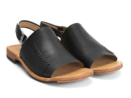 Tigris Black Flat slingback sandal