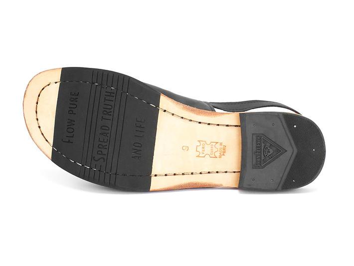 Tigris Noir Sandale plate à bride arrière