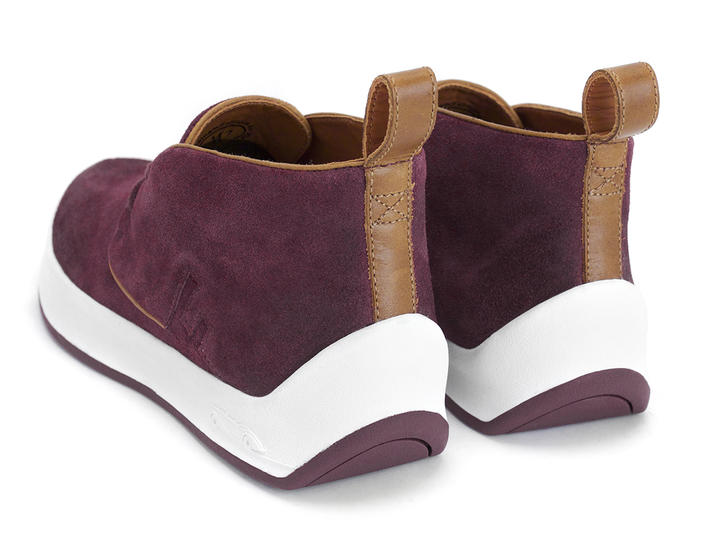 Type 3 Burgundy Sporty chukka sneaker
