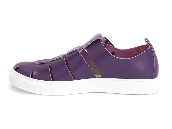 Whoopie Purple Leather sneaker sandal