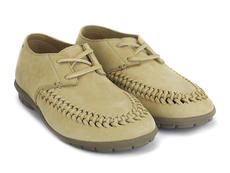 Oven Mitt Tan Handwoven lace-up shoe