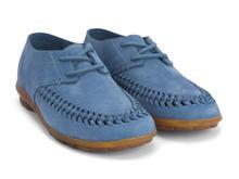 Oven Mitt Blue Handwoven lace-up shoe