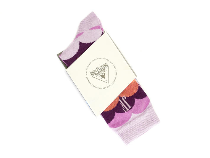 Lux Vog Socks Pink Patterned sock