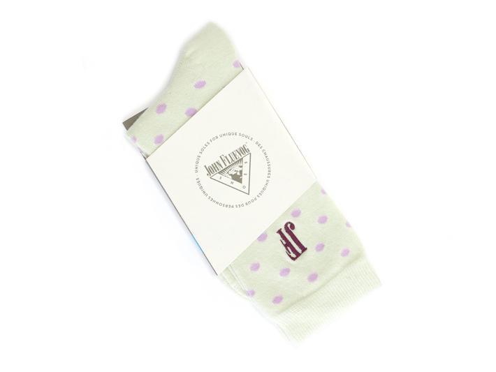 Lola Vog Socks Lime/Purple Polka dot sock