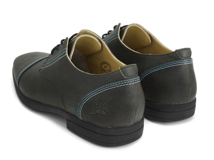Breton Dark Green Leather derby shoe