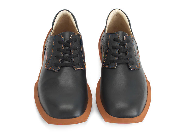 Baldwin Black Lace-up derby shoe