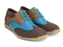 Orbit Blue/Brown Brogued Wingtip Derby