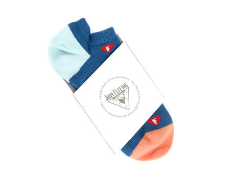 Frankie Vog Socks Blue Sock with hearts