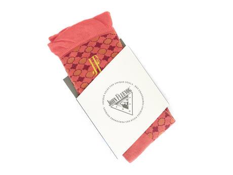 Adeline Vog Socks Orange Floral pattern socks