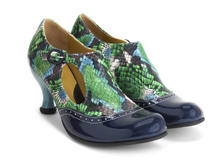 Blue/Floral Python
