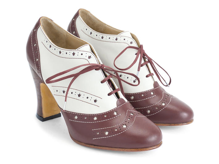Heal Canada Brogued Lace-up Heel
