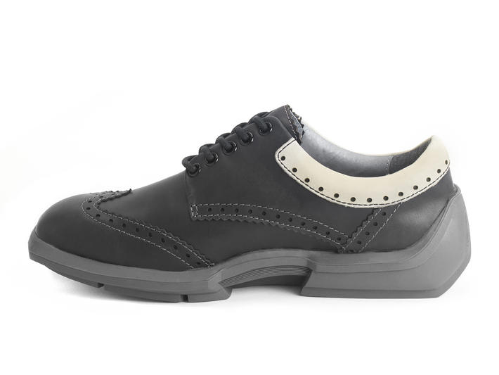 Charles Black/Grey Contrast Leather Wingtip