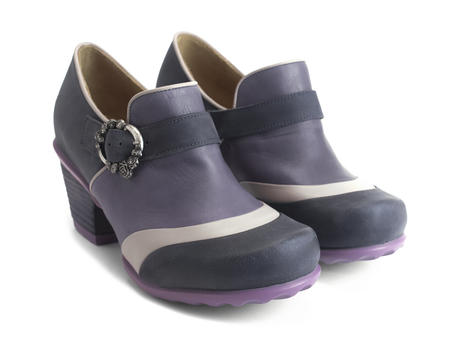Faith Purple Rose buckled shoe