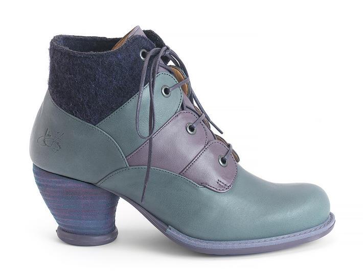Tatiana Purple Scalloped ankle boot