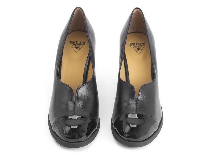 Iris Black Patent toed pump