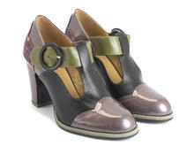 Ilona Grape Contrast t-strap heel