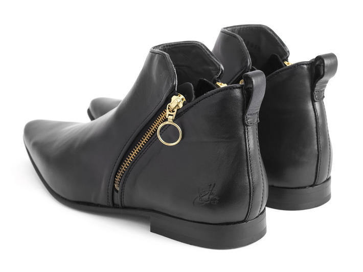 Smith Black Double zip ankle boot