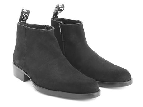 Stephane Black Suede Low ankle boot