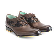 Perception Brown Ghillie  lace-up dress shoe
