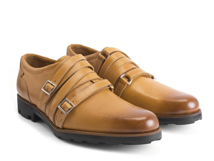 Ifman Tan Strappy dress shoe
