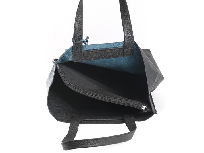 Adelia Black/Blue Modern tote
