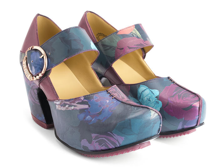 Leader Floral Platform Mary Jane Heel