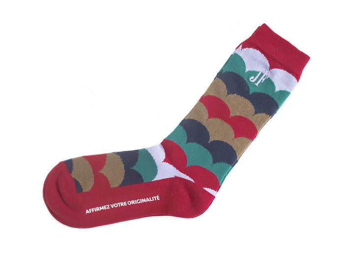 Lux Vog Socks Red Patterned sock
