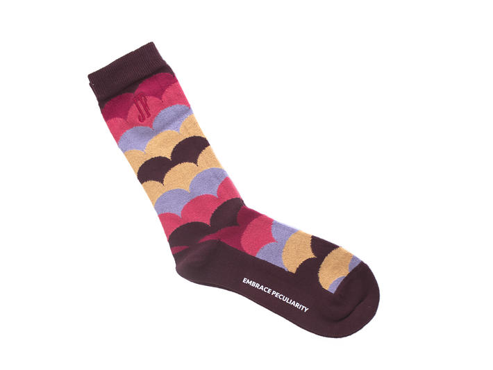 Lux Vog Socks Plum Patterned sock