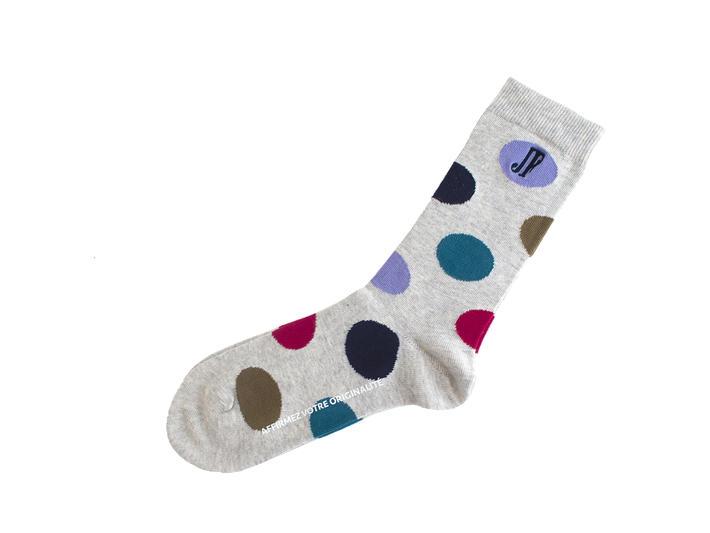 Pipo Vog Socks Grey Polka dot sock