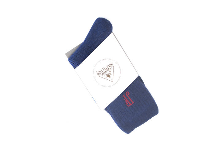 Tess Vog Socks Blue Ribbed knit sock