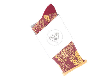 Trixie Vog Socks Red/Orange Jacquard knit sock