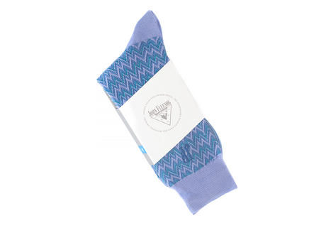 Gus Vog Socks Purple Zigzag sock