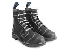 Derby Swirl (6 Oeillets) Noir Classic Derby Boot
