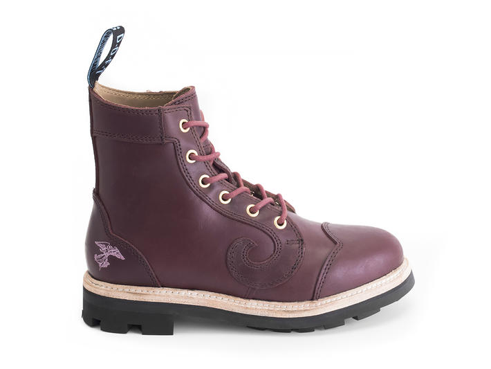Derby Swirl (6 Oeillets) Bourgogne Classic Derby Boot