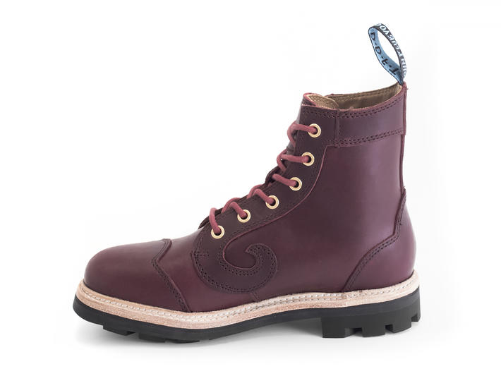 Derby Swirl (6 Eye) Burgundy Classic Derby Boot