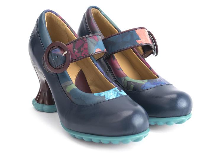 fluevog shoes shop ceres navy floral padded mary jane