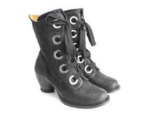 Gladstone Black Mid-calf lace-up boot
