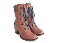 Gladstone Brown Mid-calf lace-up boot
