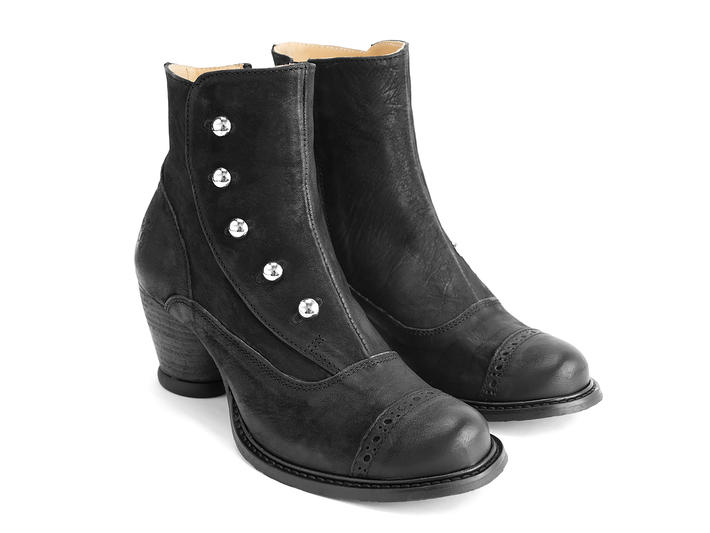 Venables Black Ankle boot with buttons