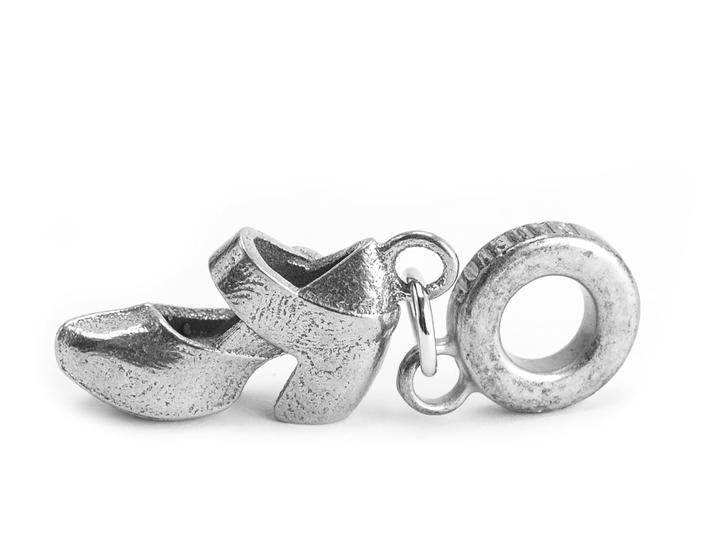 Leader Shoe Charm Silver Stainless steel shoe pendant