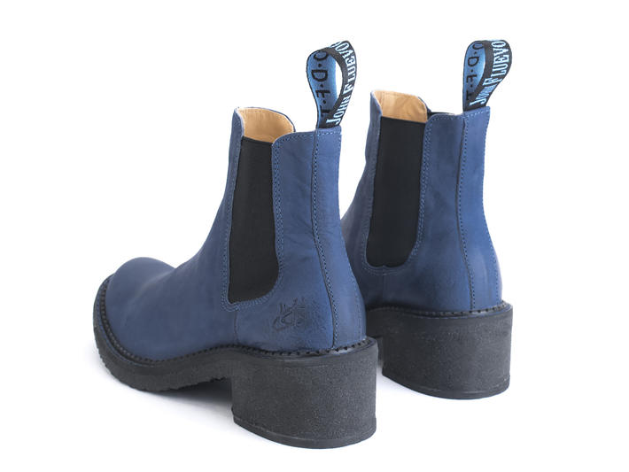 Nap Blue Crepe soled chelsea boot