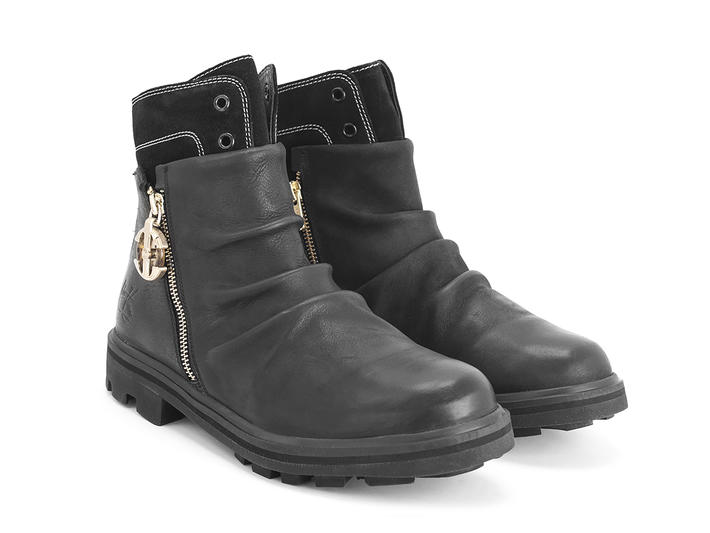 Grayson Black Hybrid ankle boot