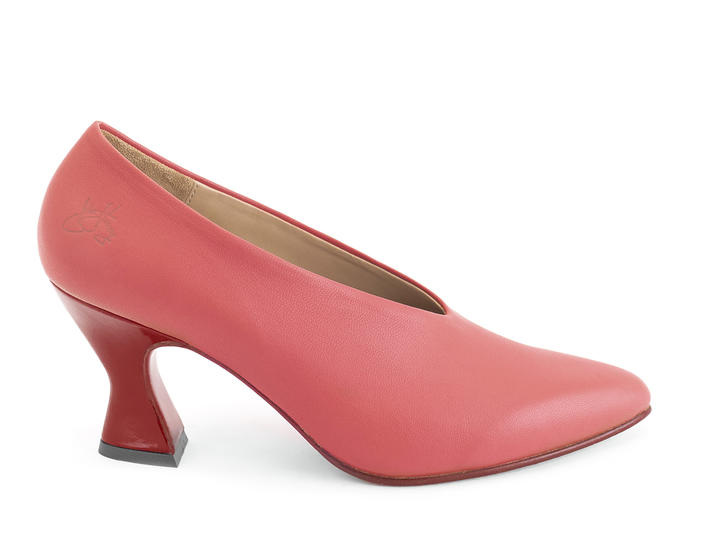 Ioni Red Sexy leather pump