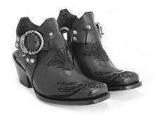 Loretta Black Western slingback heel