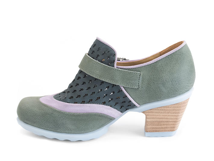 Faith Green Rose buckled shoe