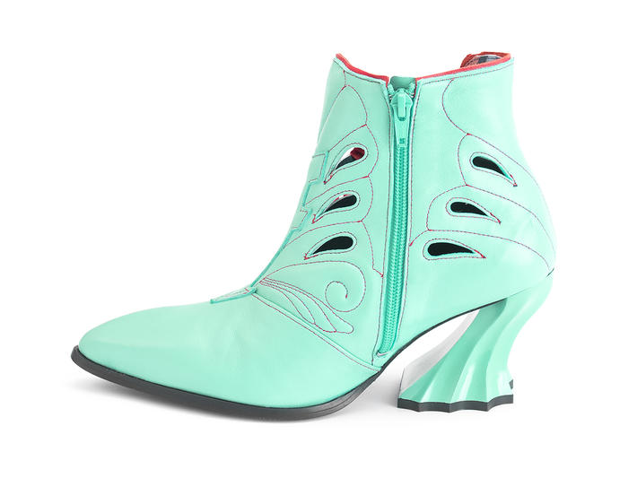 Jodie Aqua Side lace ankle boot