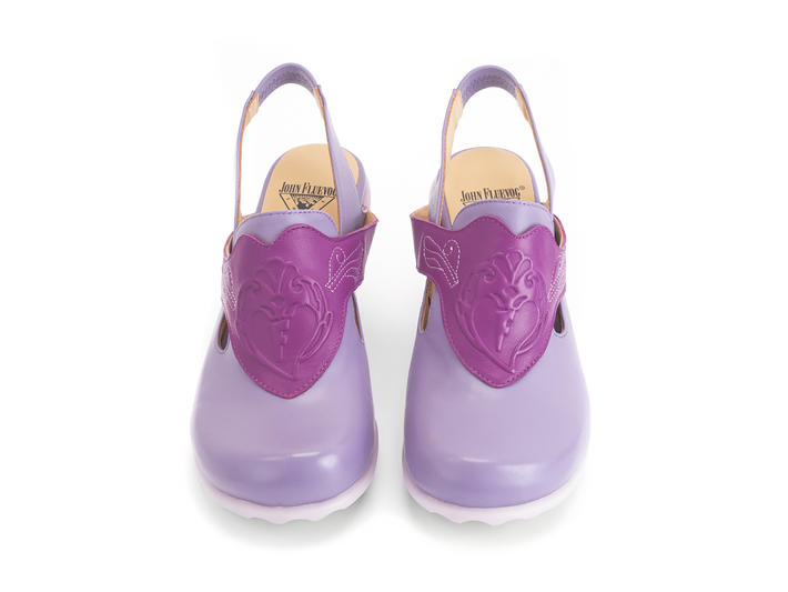 Fay Purple Slingback heel with emboss