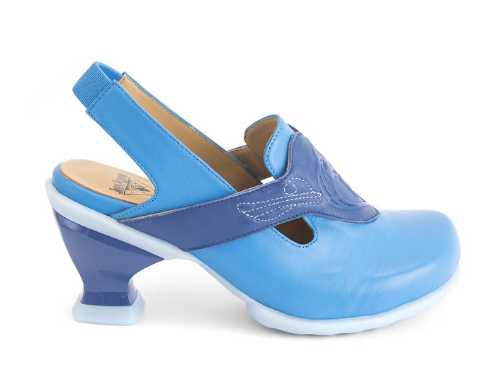 Fay Blue Slingback heel with emboss