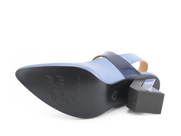 Bolt Bleu Talon bride-arrière géométrique